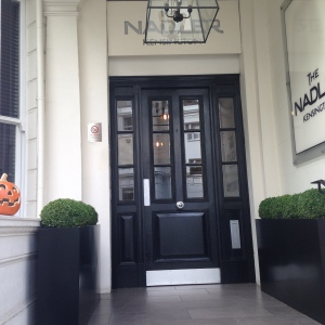 The entranceway to Nadler Kensington Hotel, in the historic area of Kensington.