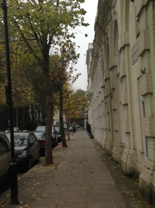 A neighborhood block in Kensington in London.